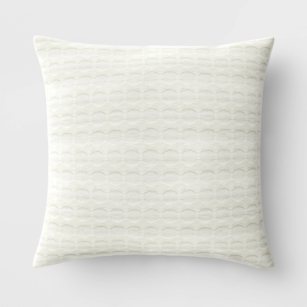 18 34 X18 34 Waffle Square Throw Pillow Neutral Threshold 8482