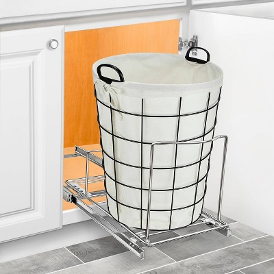 Lynk Professional Pull Out Bin Holder - Sliding Cabinet Organizer