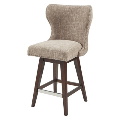 Silloth Swivel Counter Height Barstool - Camel/Brown