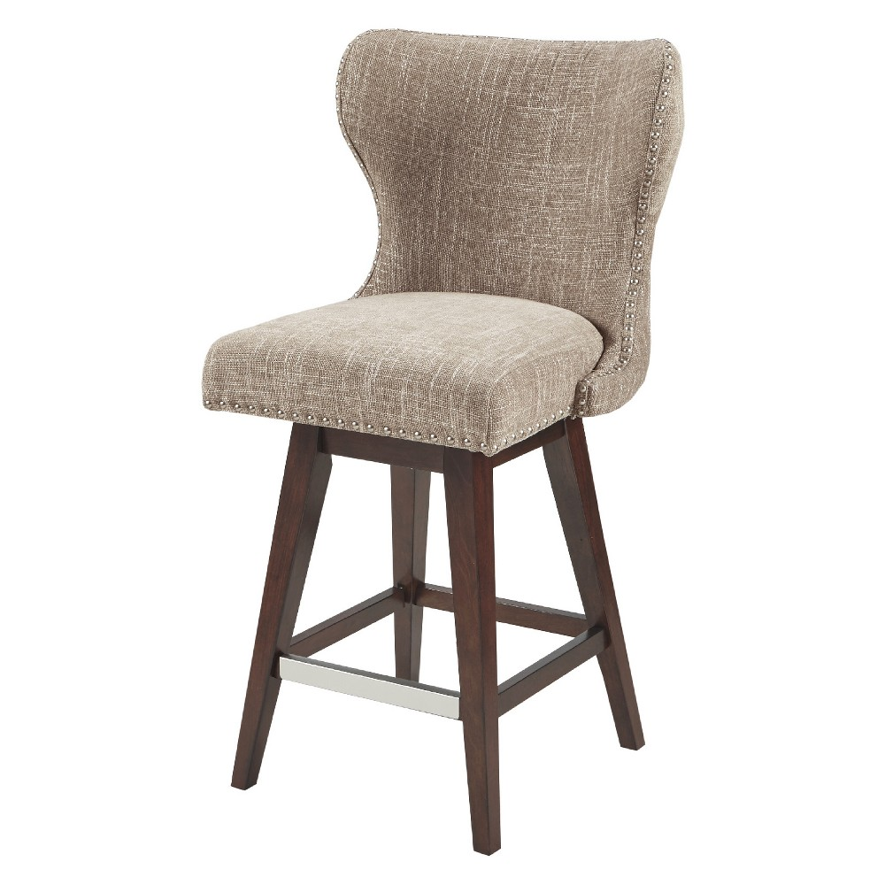 Silloth Swivel Counter Stool - Camel/Brown