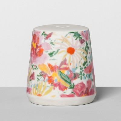 Floral Stoneware Pepper Shaker Pink - Opalhouse™