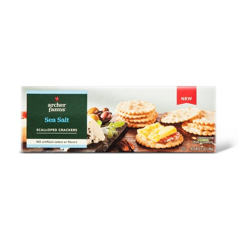 Sea Salt Scalloped Crackers - 6.5oz - Archer Farms™ - image 1 of 1