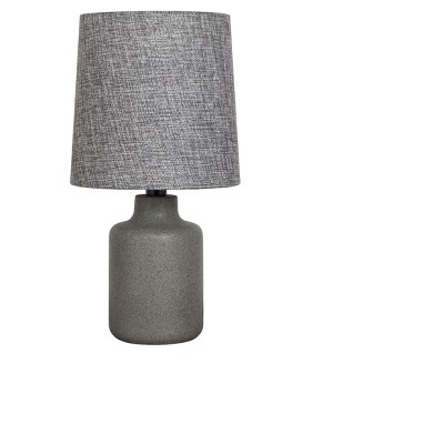 Painted Base Table Lamp Gray with Textured Blue Shade - Adesso