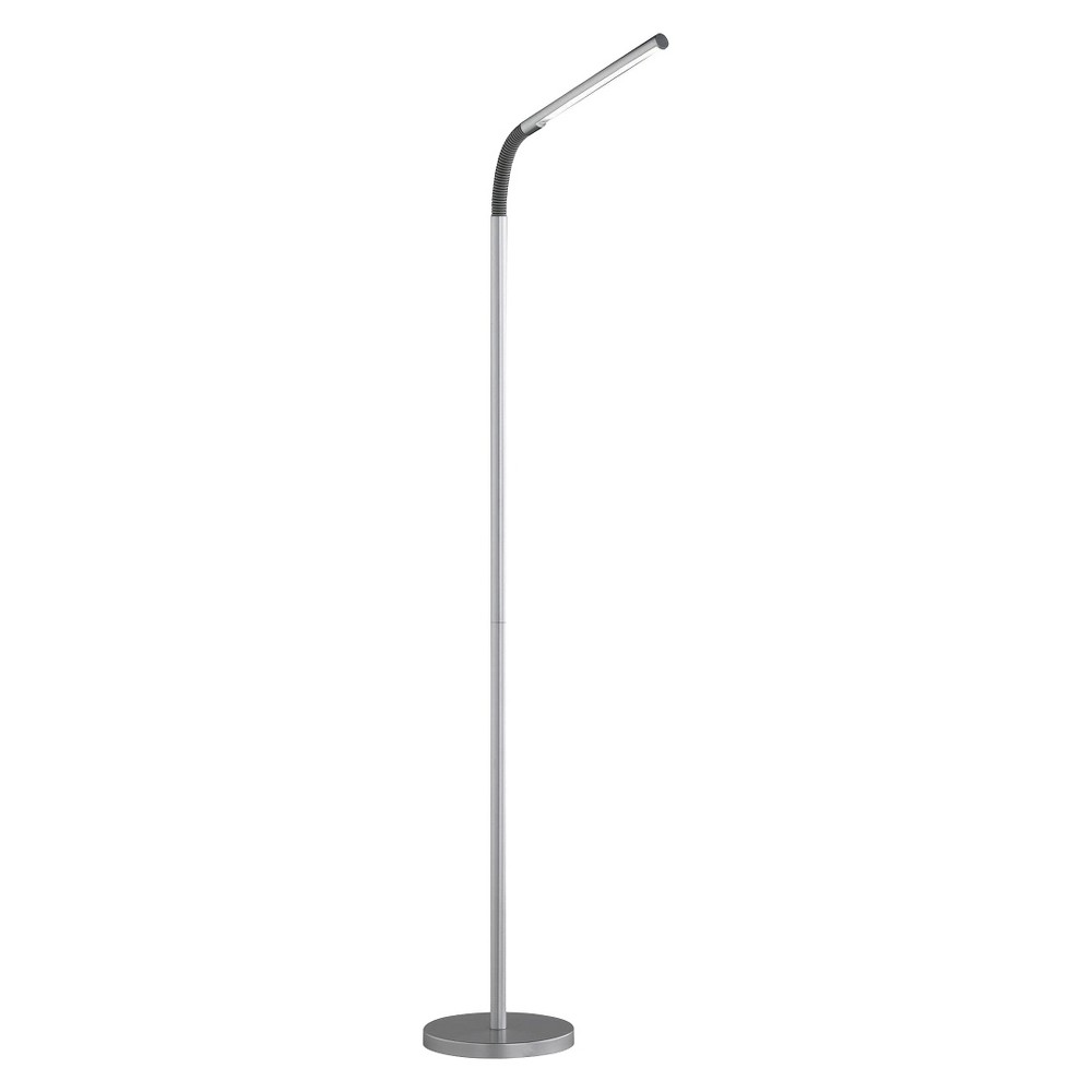 Creative Motions Led Floor Lamp Silver (Lamp Includes Energy Efficient Light Bulb)