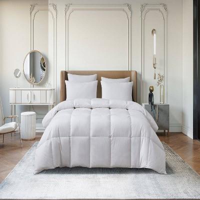 All Seasons Cotton Blend Goose Down Fiber Comforter - Martha Stewart