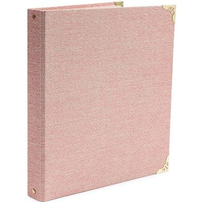Paper Junkie Pink 3 Ring Binder with Gold Hardware for 250 Sheet Capacity (11.5 x 10.5 x 1.6 in)