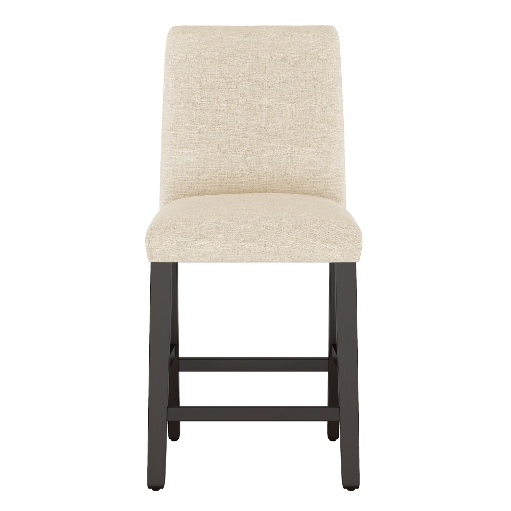 Modern Counter Stool Cream Linen - Project 62