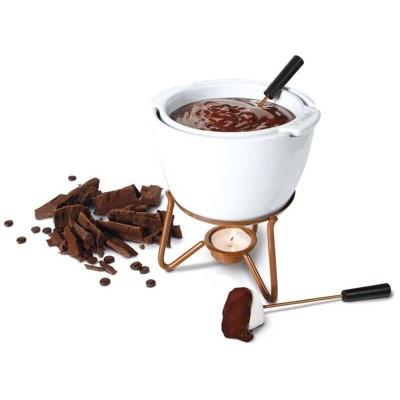 Boska Ceramic and Stainless Steel Chocolate Fondue Set