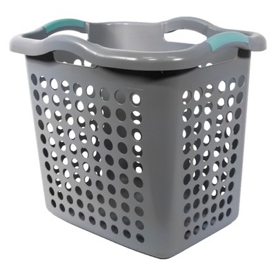 Home Logic Hamper with Divider Bag Gray/Teal - Room Essentials™