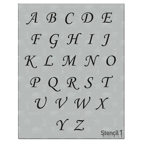 """Stencil1 Corsiva Font 2"""" - Letter Stencil 8.5"""" x 11"""" - image 1 of 4"""