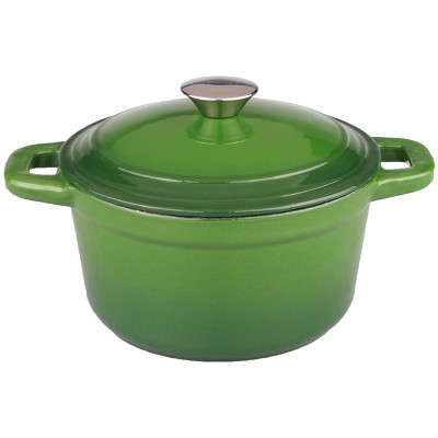 BergHOFF Neo 7 Qt Cast Iron Round Covered Casserole, Green