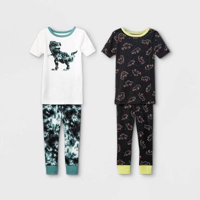 Toddler Boys' 4pc Dino Snug Fit Pajama Set - Cat & Jack™ White