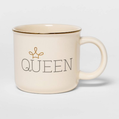 15oz Stoneware Queen Camper Mug White - Threshold™
