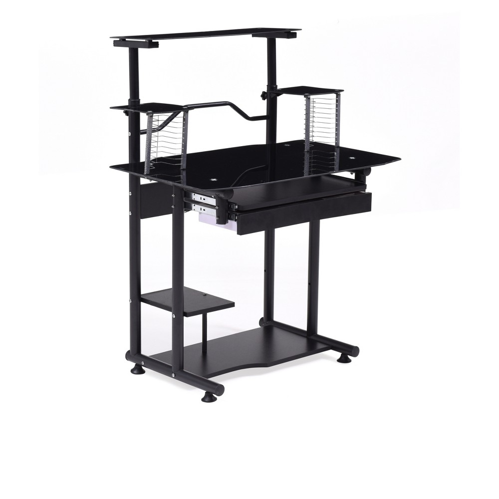 Image of Computer Desk Black - Hodedah Import
