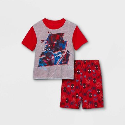 Boys' Marvel Miles Spidey 2pc Pajama Set - Red - image 1 of 3