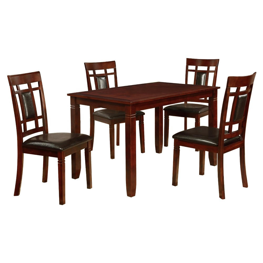 Image of 5pc Dining Table & 4 Side Chairs - Black - Home Source
