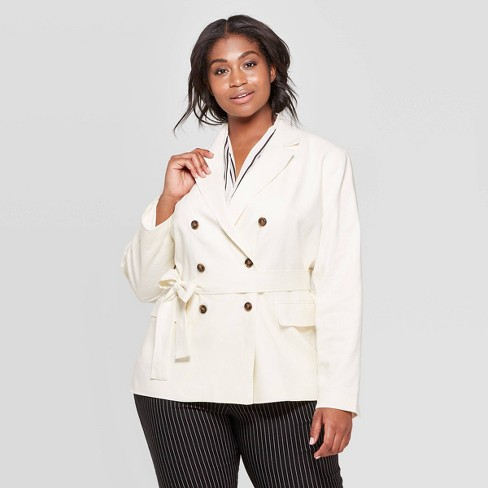 Women's Plus Size Double Breasted Belted Blazer - Who What Wear™ - image 1 of 3