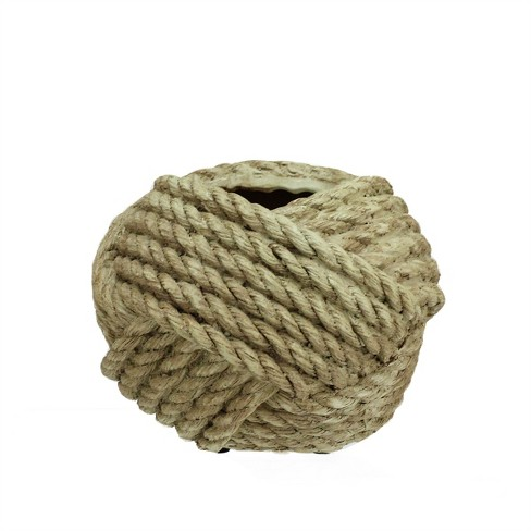 """Allstate Floral 4"""" Rope Wrapped Spring Planter - Brown - image 1 of 1"""
