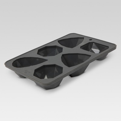 Rectangular Silicone Reusable - 6 Cube Ice Tray Mold - Gray - Threshold™