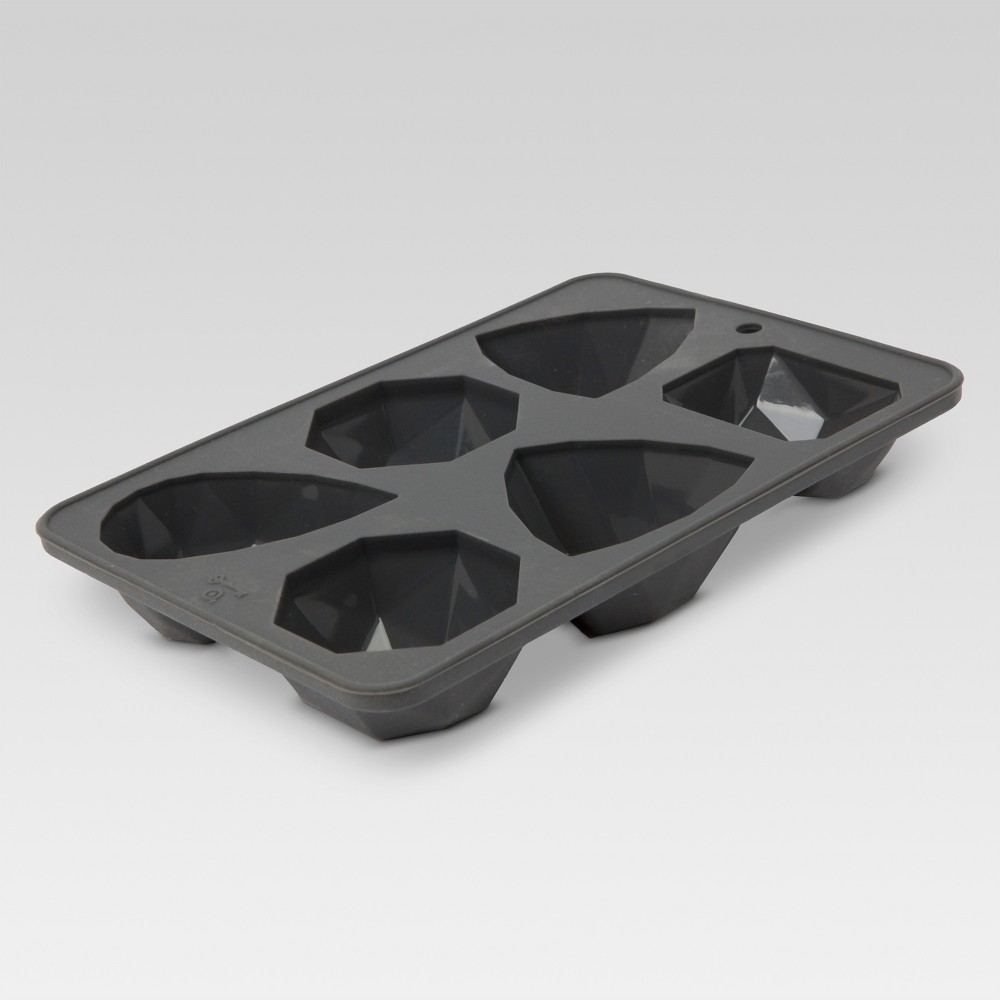 Rectangular Silicone Reusable - 6 Cube Ice Tray Mold - Gray - Threshold