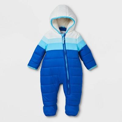 Baby Colorblock Puffer Snowsuit - Cat & Jack™ Blue