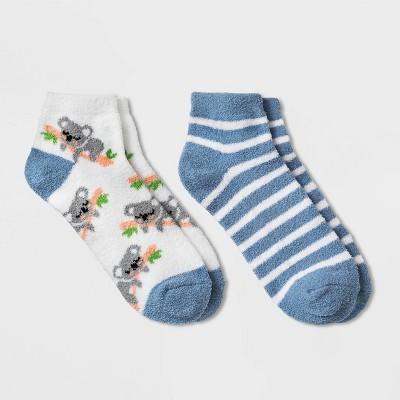 Women's Koala Cozy 2pk Low Cut Socks - White 4-10