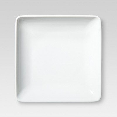 Square Porcelain Appetizer Plate 5.430   White - Threshold™