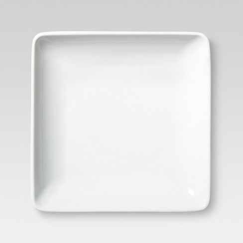 "6.5"" Porcelain Square Appetizer Plate White - Threshold™ - image 1 of 1"