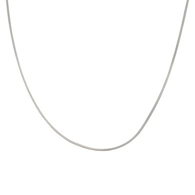 "Sterling Silver Snake Chain Necklace - Silver (18"")"
