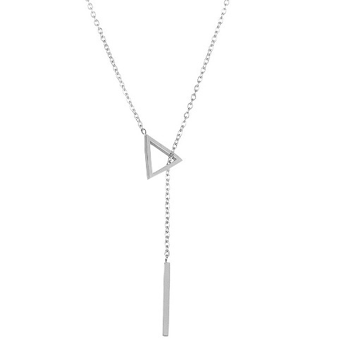 "ELYA® Triangle Bar Drop Lariat Necklace - (18"") - image 1 of 1"