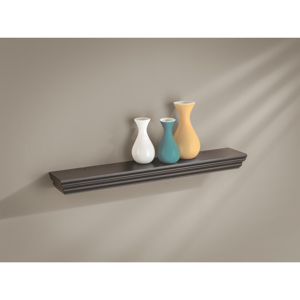 "Image of ""24"""" x 4"""" x 1.75"""" Profile Ledge Wall Shelf Espresso - Dolle Shelving, Brown"""