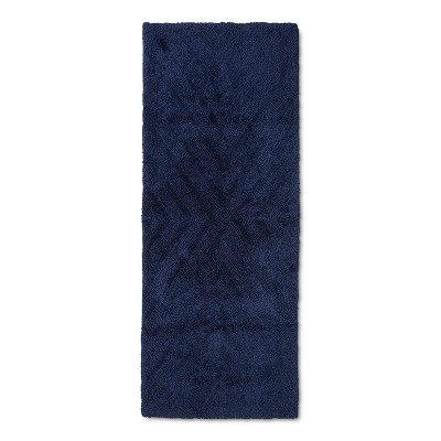 "58""x23"" Tufted Bath Mat Navy Blue - Project 62™ + Nate Berkus™"
