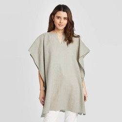 Women's Solid Cape - Universal Thread™ Olive Gray