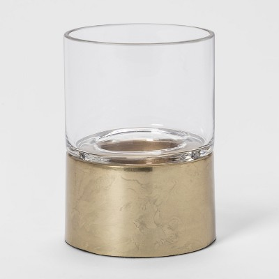 4.7  x 3.5  Hurricane Tealight Candle Holder Gold - Project 62™