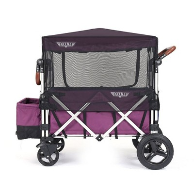 Keenz Folding Collapsible Mosquito Netting Sun Shade Protection Cover Accessory with Zippered Opening for the 7S Kids Toddler Wagon