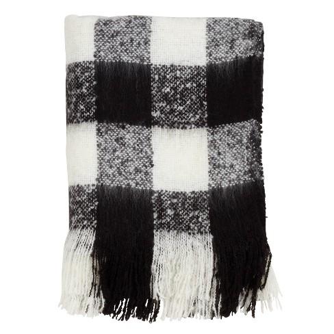 Faux Mohair Buffalo Plaid Throw Blanket - Saro Lifestyle - image 1 of 4