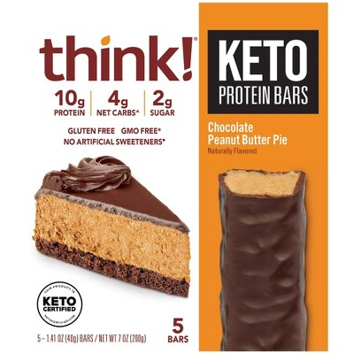 think! Keto Protein Chocolate Peanut Butter Bars - 5ct