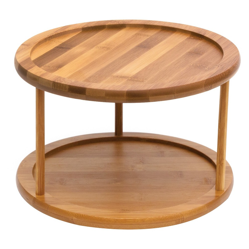 Lipper International 10in Bamboo 2-Tier Turntable