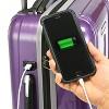 """U.S. Traveler 22"""" USB Port EZ-Charge Suitcase - Purple - image 3 of 3"""