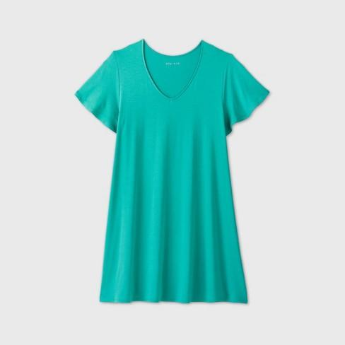 Women's Plus Size Short Sleeve A-Line Dress - Ava & Viv™ - image 1 of 4