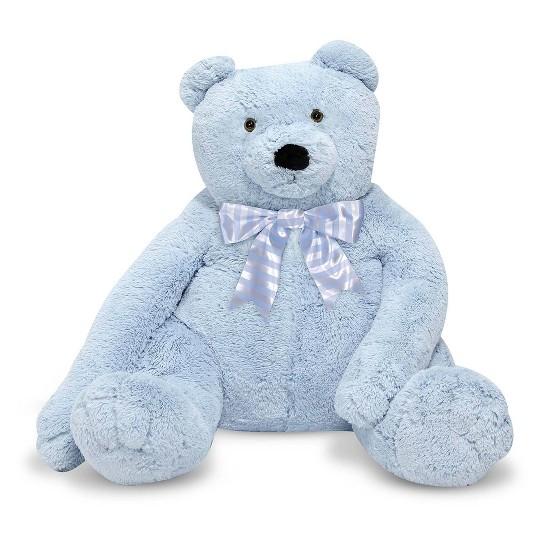 Melissa & Doug Jumbo 2' Teddy Bear - Blue image number null