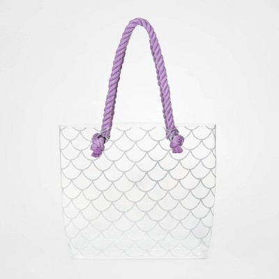 Girls' Jelly Rope Tote Clear Handbag - Cat & Jack™