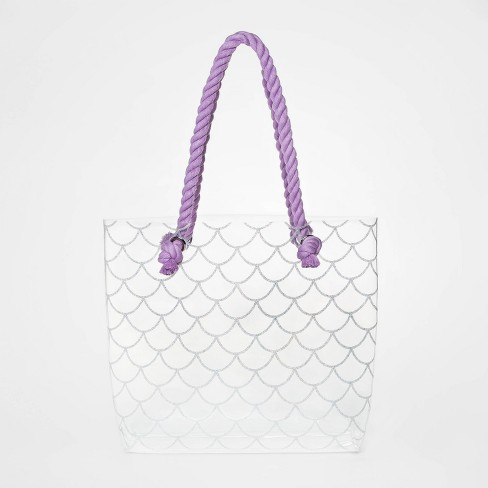 Girls' Jelly Rope Tote Clear Handbag - Cat & Jack™ - image 1 of 1