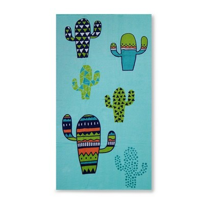 Cactus Beach Towel Crystalized Green