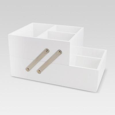 Vanity Organizer with Magnetic Strip - White - Threshold™