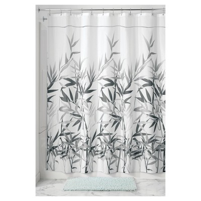 Anzu Fabric Shower Curtain Stall -Gray - InterDesign