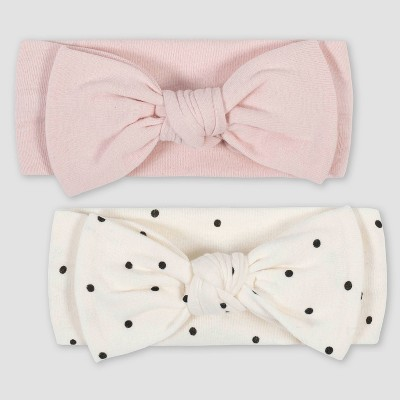 Gerber Baby Girls' 2pk Bunny Headband - Pink