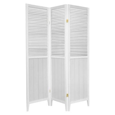 6 ft. Tall Beadboard Divider - White (3 Panels)
