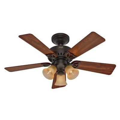 42  Beacon Hill Lighted Ceiling Fan Brown - Hunter Fan