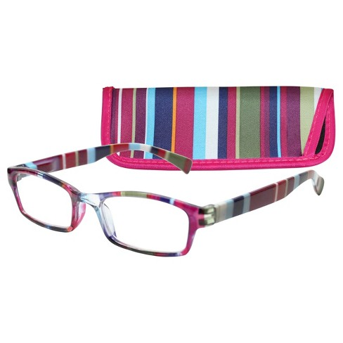 ICU Wink Purple Stripe Reading Glasses : Target